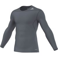 Adidas-Techfit-Base-Long-Sleeve-Blei-Grau,-Gr.-XS—3XL
