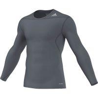 Adidas-Techfit-Base-Long-Sleeve-Blei-Grau,-Gr.-XS—3XL