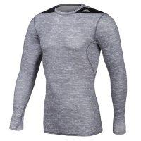 Adidas-Techfit-Base-Long-Sleeve-Grau-Schwarz,-Gr.-XS—2XL