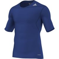 Adidas-Techfit-Base-Short-Sleeve-Royal-Blau,-Gr.-XS—3XL
