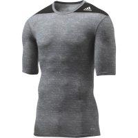 Adidas-Techfit-Base-Short-Sleeve-schwarz-grau,-Gr.-XS—3XL