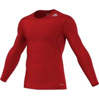 Adidas-Techfit-Long-Sleeve-Base-rot,-Gr.-XS—2XL