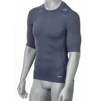 Adidas-Techfit-TF-Base-Short-Sleeve-silberbgrau,-Gr.-XS—3XL