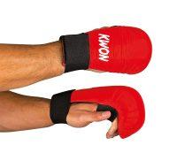 Kwon-Karate-Handschutz-rot-ohne-Daumenschlaufe,-Gr.-XS—XL