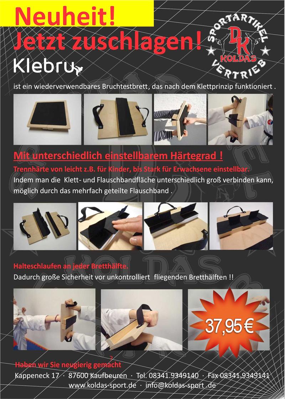 KleBru bruchtestbrett | Flyer | 37,95 € bei Koldas-Sport
