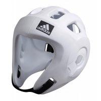 Adidas-Kopfschutz-Adizero-weiß,-WTF-u.-WAKO,-Gr.-XS—XL