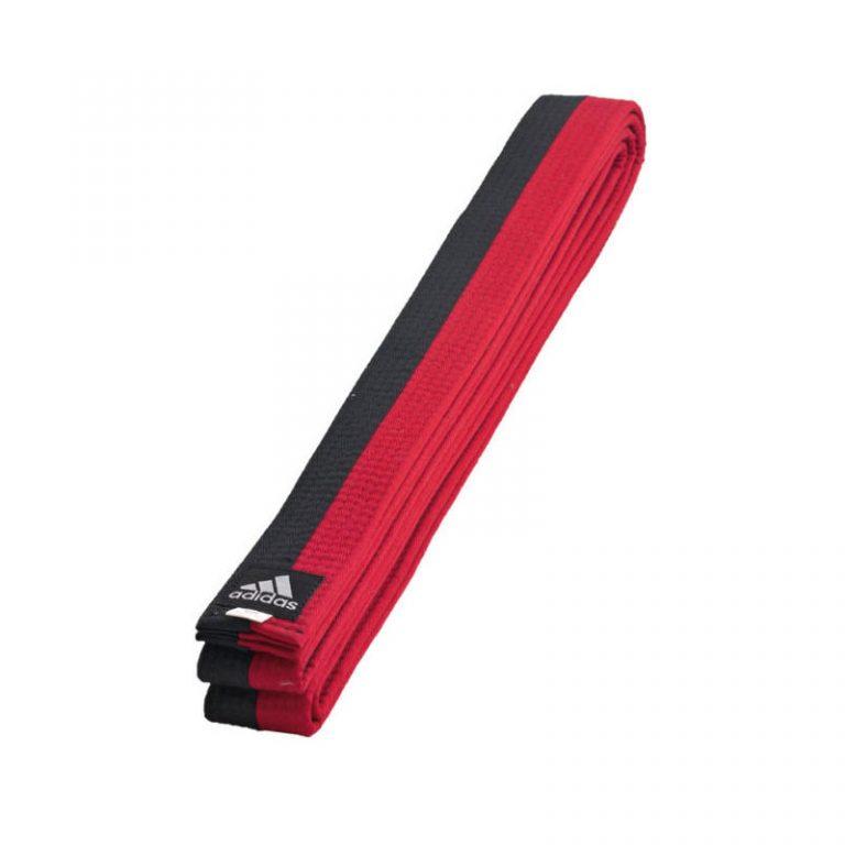 Adidas-Poom-Gürtel-schwarz-rot