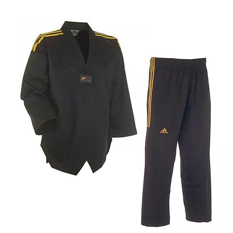 Adidas-Taekwondo-Anzug-CHAMPION-schwarz,-Gr.-160---210-cm