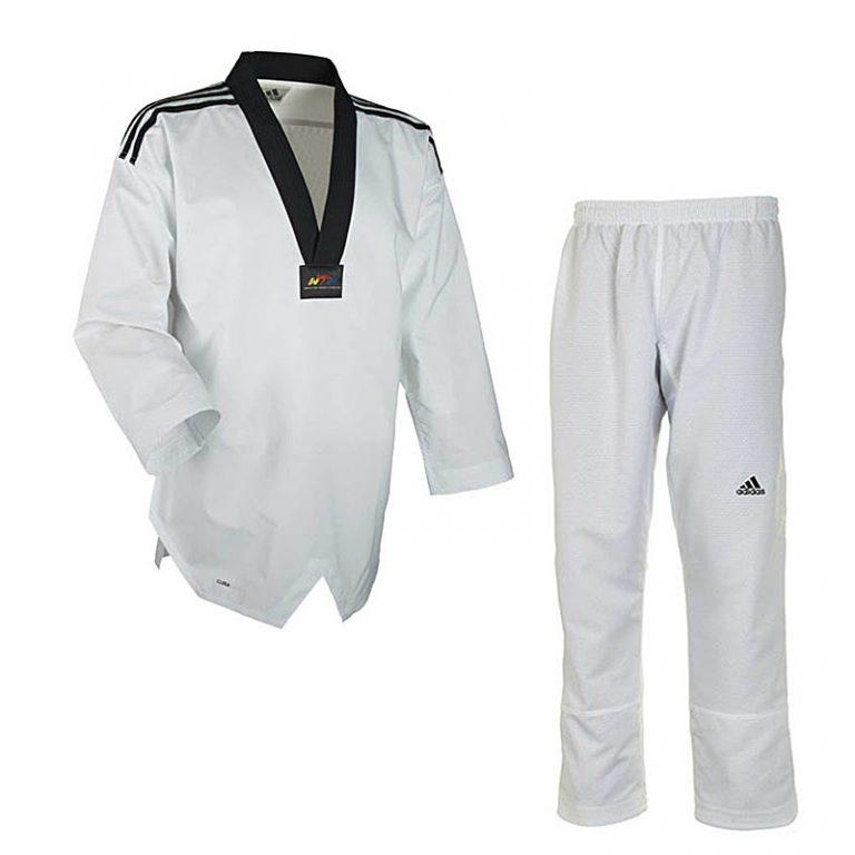 Adidas-Taekwondo-Anzug-FIGHTER-m.-Streifen,-Gr.-160---220-cm