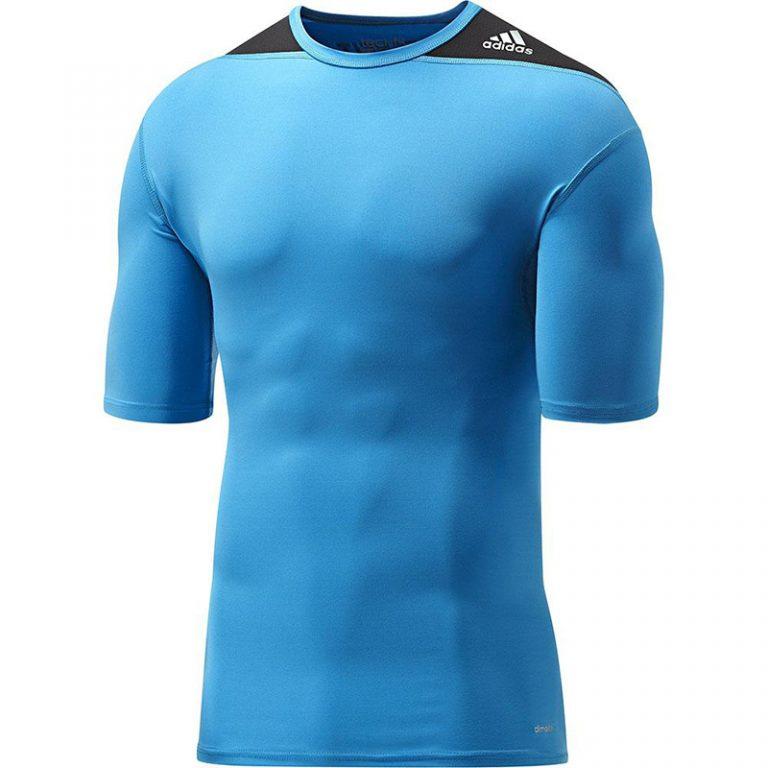 Adidas-Techfit-Base-Short-Sleeve-Solblu-Black,-Gr.-XS---2XL