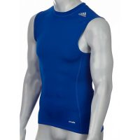 Adidas-Techfit-TF-Base-Sleeveless-blau,-Gr.-XS—3XL