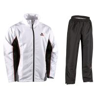 Danrho-Trainingsanzug-Fashion-weiß-schwarz,-Gr.-128—XXXL