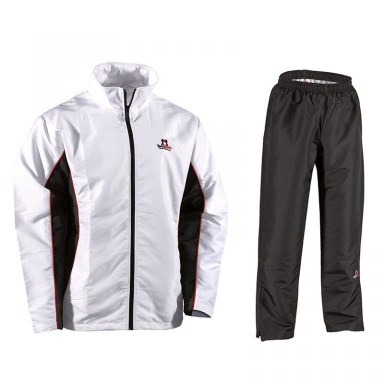 Danrho-Trainingsanzug-Fashion-weiß-schwarz,-Gr.-128---XXXL