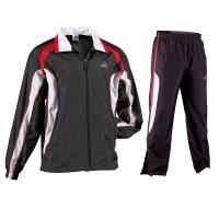 Danrho-Trainingsanzug-Trend-schwarz-weiß-rot,-Gr.-128—XXXL