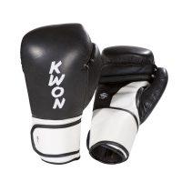 Kwon-Boxhandschuh-Super-Champ-schwarz-weiß,-10-u.-12-oz