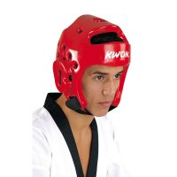 Kwon-Kopfschutz-PU-rot,-Gr.-XXS—XL