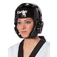 Kwon-Kopfschutz-PU-schwarz,-Gr.-XXS—XL