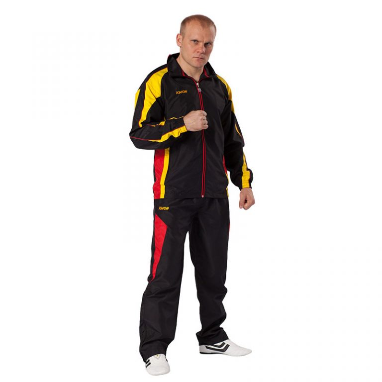 Kwon-Trainingsanzug-Performance-Micro-schwarz-gelb-rot,-Gr.-128---XXL-(3)