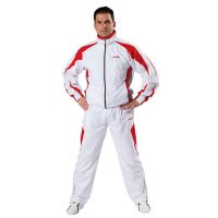 Kwon-Trainingsanzug-Performance-Micro-weiß-rot-grau,-Gr.-128—XXL