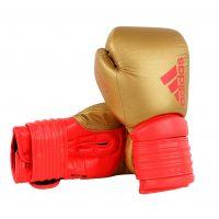 adiH300-adidas-boxhandschuhe-hybrid-300-schwarz-gold-rot,-14-u.-16-oz.