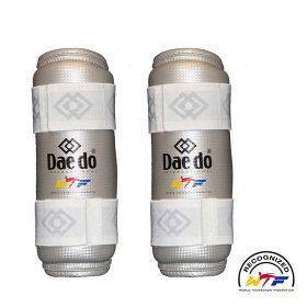 Daedo-Unterarmschutz-WTF-Silver-Fit,-Gr.-S—XL