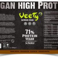 Veety—High-Protein–Schoko-Etikett