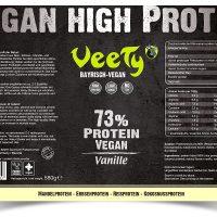 Veety—High-Protein–Vanille-Etikett