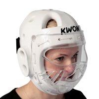 Kwon-KSL-Kopfschutz-weiss-mit-Visier / Bitte bei Bestellung eine Nummer größer bestellen. Der Kopfschutz fällt etwas kleiner aus.