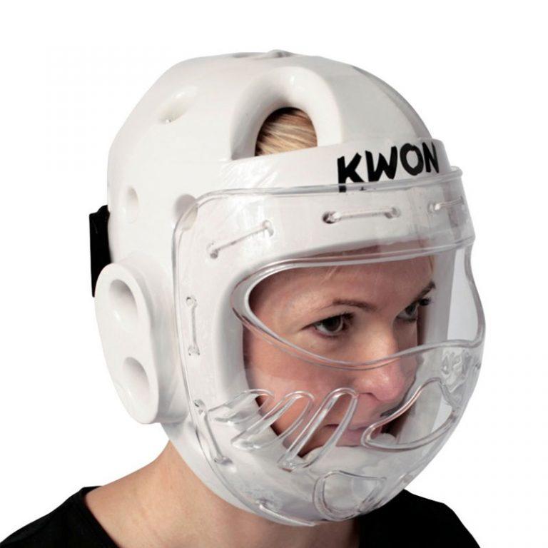 Kwon-KSL-Kopfschutz-weiss-mit-Visier Bitte bei Bestellung eine Nummer größer bestellen. Der Kopfschutz fällt etwas kleiner aus.