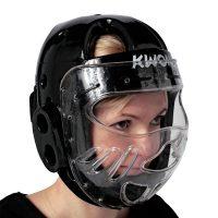 Kwon-KSL-Kopfschutz-schwarz-mit-Visier /Bitte bei Bestellung eine Nummer größer bestellen. Der Kopfschutz fällt etwas kleiner aus.