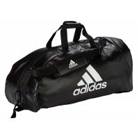 Adidas-2in1-bag-Martial-Arts-black-white,-Gr.-M-u.-L
