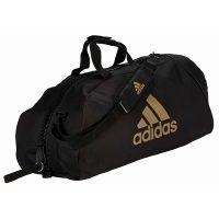 Adidas-Sporttasche-Martial-Arts-black-gold-Nylon,-Gr.-M-u.-L