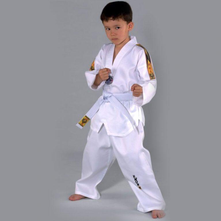 Kwon TKD Anzug Tiger Größe 90-110 cm Angebotspreis 12,50 EUR Größe 120-150 cm Angebotspreis 15,10 EUR Größe 160-180 cm Angebotspreis 16,00 EUR