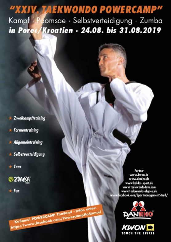 Taekwondo Powercamp am 26. - 31. August 2019 in Pore`c/Kroatien