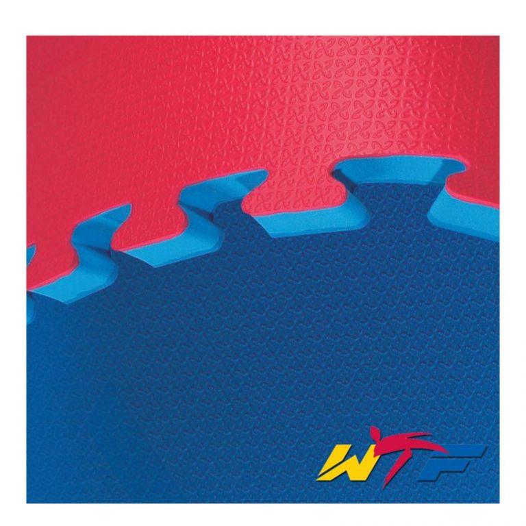 Kwon Clubline Steckmatte Reversible WT rec., Maße: 1m x 1m x 2,4 cm, rot/blau, Preis regulär: 30,90 EUR, Angebotspreis: 22,50 EUR