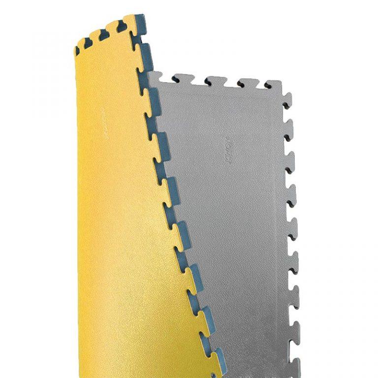 Kwon Wendematte anthrazit/gelb Noppenstruktur, Maße: 1mx1mx2,5 cm, Angebots-Preis: 22,50 EUR (regulär: 30,90 EUR)