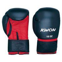 Kwon Boxhandschuh Knocking rot/schwarz.<br>      Größe 10 oz: Preis 49,- €<br>      Größe 12 oz: Preis 50,- €