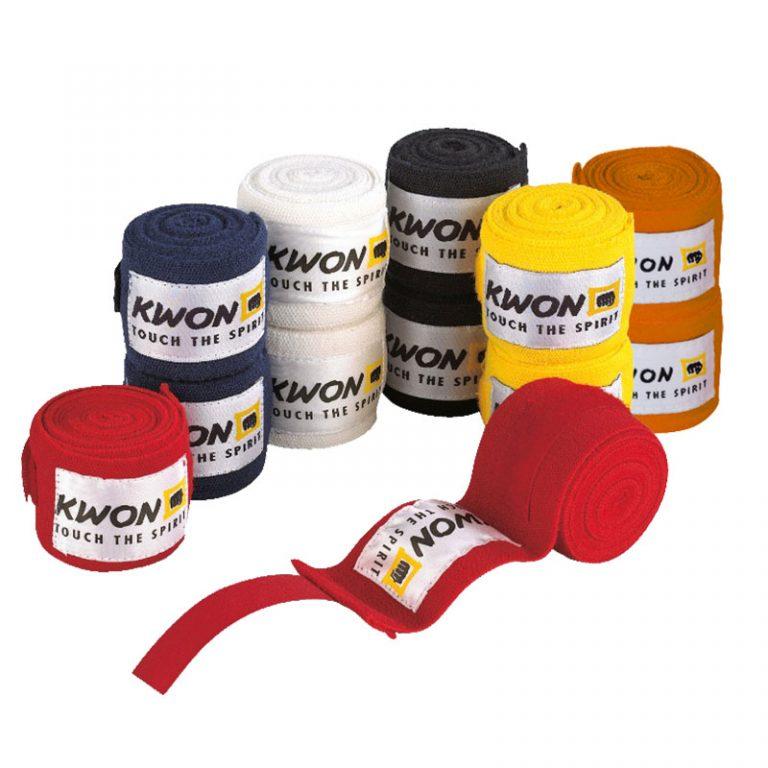 Kwon Boxbandagen elastisch 2,5 m, mehrere Farben. Preis: 9,90 €