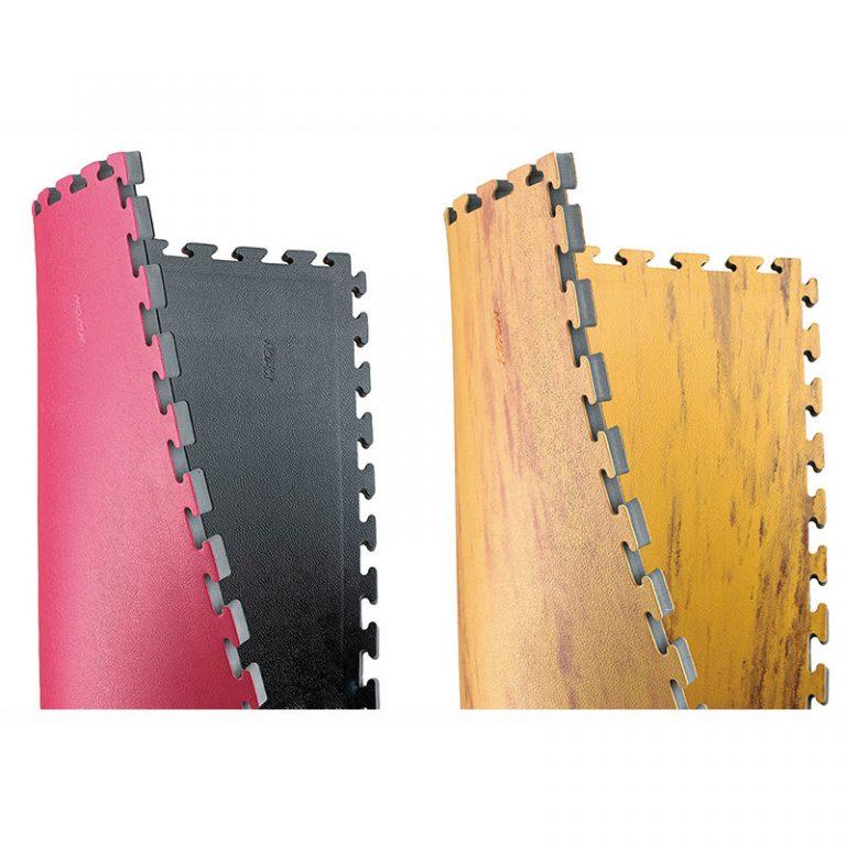 Kwon Wendematte schwarz/rot, Maße: 1 m x 1 m x 2,5 cm, Angebotspreis: 22,30 EUR (regulär: 30,90 EUR)