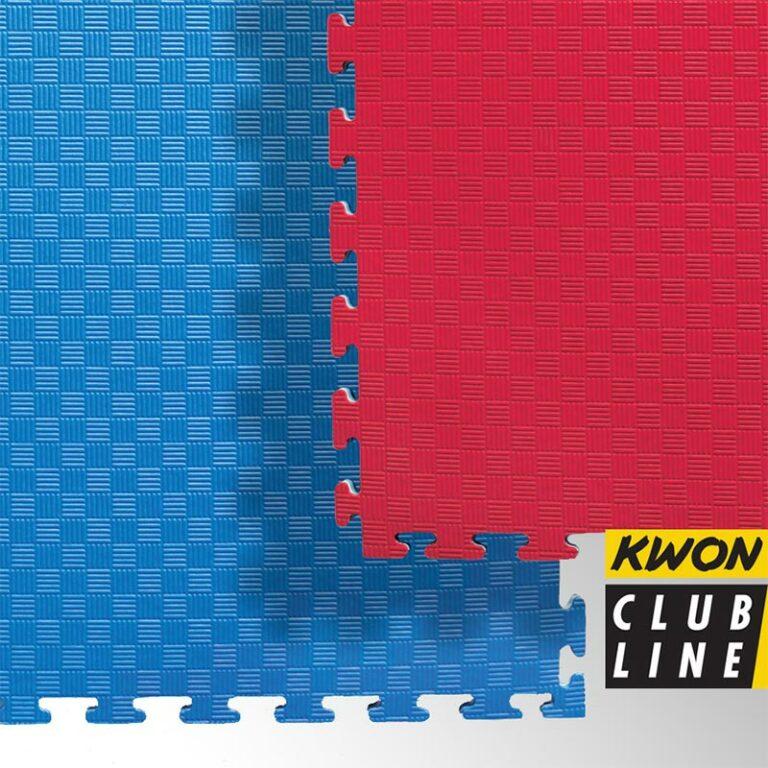 Kwon Wendematten rot/blau, Maße: 1 m x 1 m x 2 cm Angebotspreis: 17,90 EUR (regulär: 26,95 EUR)